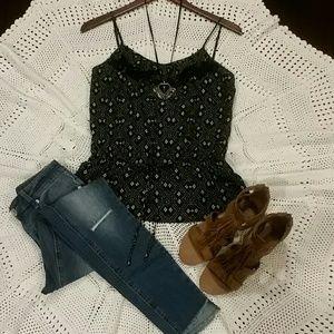 Forever 21, Boutique XX1 Peplum black & white top